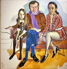 Alice Neel (US 1900-1984)Family (James Gruen, Jane Wilson and Julia) 1972Oil on canvas. This is one of Neel's largest paintings and the first work that was included in the Whitney biennial. Capturing three different expressions, the painting suggests the different attitudes to being depicted.