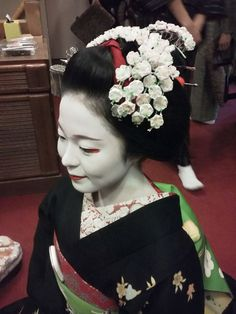 A maiko during the month of February
