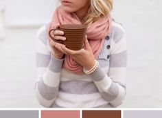 Color Inspiration: Cozy and Pretty. Perfect for February.