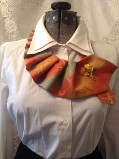 Recycled Men's Necktie with Brooch by RubyLeesTrunk on Etsy, $12.00