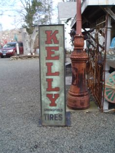 Auto Tire Antique Advertising Sign 1930 s Kelly Tire. $650.00, via Etsy.