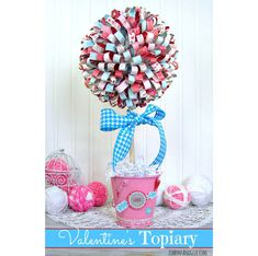 Super easy DIY paper flower wreath - fun spring craft for kids Paper Flower Wreaths, Flower Crafts, Paper Flowers, Paper Ribbon, Diy Paper, Radish Flowers, Ribbon Topiary, Vegetable Carving, Flower Video