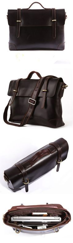 """Closure: Zipper & Hasp Gender: Men Pattern Type: Solid Main Material & Composition: Genuine Italian Leather Color: Dark Coffee color Size: 16""""L x 4""""D x 12.5""""H inches Do you tend to go for things that"""