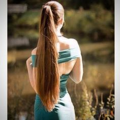 Medium Length Braided Ponytail Hairstyles are versatile hairstyles for 2017 hairstyles. Long Ponytail Hairstyles, Long Hair Ponytail, Long Ponytails, Sleek Ponytail, Sleek Hairstyles, Long Dark Hair, Grow Long Hair, Very Long Hair, Beautiful Long Hair
