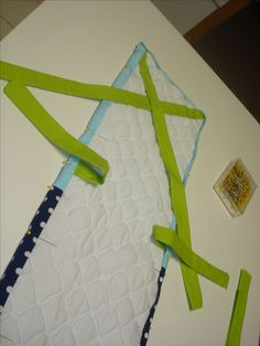 Make your own crib rail covers. Great for protecting the crib from little teeth.