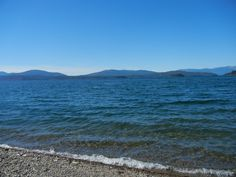 Close up of Lake Pend Oreille in Sandpoint,ID