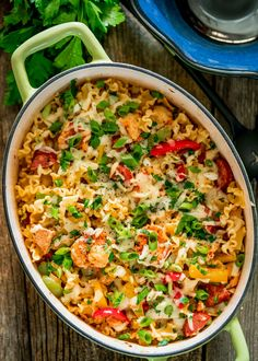 If you like jambalaya, you will love this Creamy Cajun Pastalaya Recipe. This flavorful dish adds creamy fontina cheese and pasta to the classic Southern meal, jambalaya. Chicken, shrimp, and andouille sausage make this one pot meal delicious. Creole Recipes, Cajun Recipes, Entree Recipes, Pasta Recipes, Chicken Recipes, Pasta Meals, Skillet Recipes, Sausage Recipes, Yummy Recipes