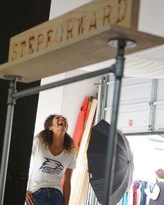 Who says your job can't be fun?! We love model Ciara in our @georgiasouthernuniversity v-neck tee! . . . #WorkWednesday #georgiasouthern #gsu #goagles #fashion #cotton #forwomen #bywomen #work #college #model