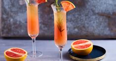 Sweet Desserts, Hurricane Glass, Grapefruit, Flute, Champagne, Food And Drink, Drinks, Tableware, Kitchen