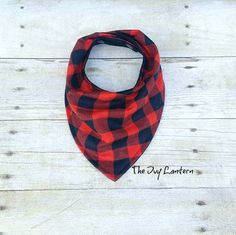 Red black buffalo plaid bandana bib #lumberjackbaby #buffaloplaid #bandanabib   https://www.etsy.com/listing/240610809/baby-bandana-bib-red-black-buffalo-plaid