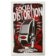 Official Social Distortion merch and music Rock Posters, Band Posters, Concert Posters, Screen Print Poster, Gig Poster, Boos Board, Mike Ness, Social Distortion, Verizon Wireless