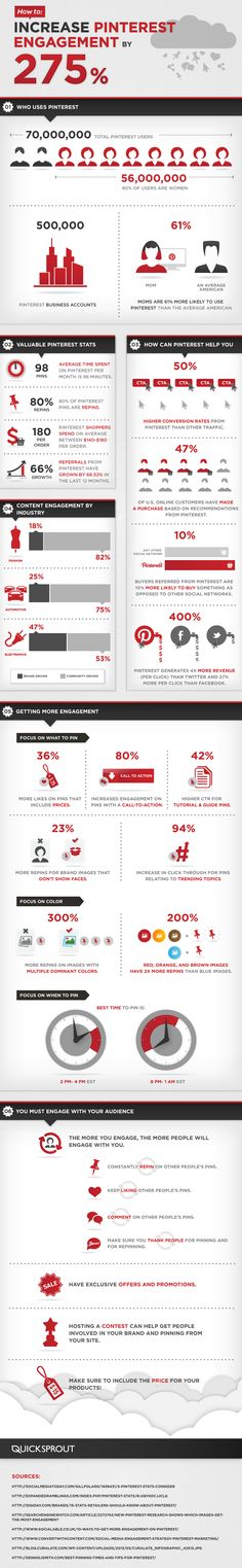 How to Increase Your #Pinterest Engagement by 275 percent  #socialmedia #infographic