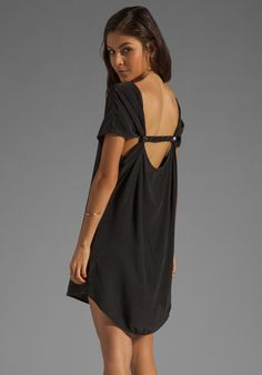 GYPSY 05 Sarah Leather Strap Mini Dress in Black at Revolve Clothing - Free Shipping!