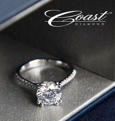 Coast loves this simple, yet sophisticated, engagement ring! #coastdiamond #elegant #timeless