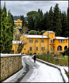 Snow time in San Martino a Mensola, near Florence © by leo1383