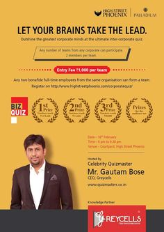 Gautam Bose quiz has plenty of services that are available to anyone who needs them, including directive training in advanced communication skills for corporate needs, team building exercises, soft skills training for all educational institutes and other workshops and programs.