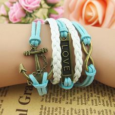Retro Anchor Love Infinity Weave Bracelet , Fashion Bracelets - Accessories &Jewelry For Big Sale! Retro Anchor Love Infinity Weave BraceletJust $9.90 . Retro Anchor Love Infinity Weave Bracelet is a perfect gift for her.it is handmade compiled. in Atwish.com