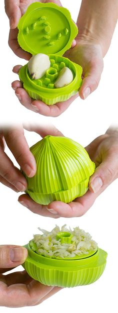 Garlic Chopper - insert, twist and chop! Awesome kitchen gadget! #product_design