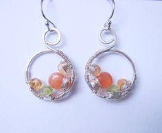 Gemstone Earrings Christmas Gift June by PurplePoemCraft on Etsy