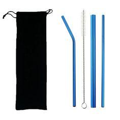 Stainless Steel Reusable Straw Set – Buymeluv