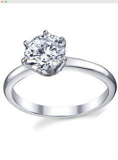 aa9c2e903 925 Sterling Silver CZ Round Brilliant Cubic Zirconia Engagement Ring