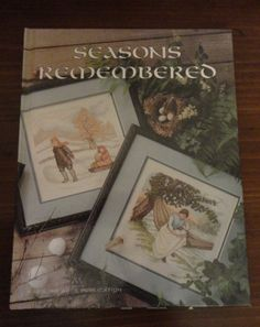 Beautiful Vintage Cross Stitch Book Victorians Seasons Remembered/Spring Summer Autumn Winter Cross Stitch Patternsby CoolCoolVintage, $6.00