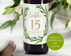 Personalized Wine Labels, Custom Wine Labels, Wedding Wine Labels, Wedding Wine Bottles, Bottle Centerpieces, Wine Label Design, Wine Table, Wedding Table Numbers, Label Templates