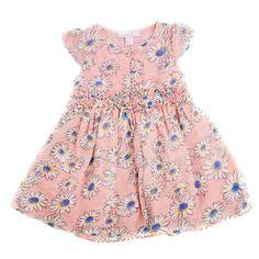 Linzi Rose Apricot Daisy Dress