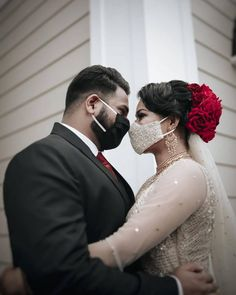 #Trending: Bridal Masks Are Now A Part Of Bridal Outfits Intimate Wedding Ceremony, Wedding Poses, Wedding Couples, Wedding Album, Wedding Ideas, Couple Photoshoot Poses, Bridal Photoshoot, Couple Portraits, Bride Groom Photos