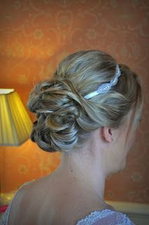 Wedding Hair styling by Fordham Hair Design Gloucestershire  ... Clearwell Castle Wedding Hair Styling for Julia