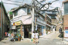 이미지 크게보기 | 전원주택이 있는 월간 전원속의 내집 Concept Art Tutorial, Building Painting, Japan Architecture, Building Sketch, Ap Studio Art, Unique Buildings, City Aesthetic, Japan Photo, Environment Concept Art