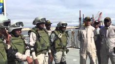 Marinha do Brasil realiza treinamentos antipirataria para militares da M...
