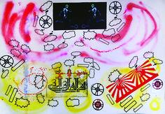 cm, sticker and stencil on bristol, 2015 Dada Art, Paper Artwork, Painted Paper, Cartoon Styles, Medium Art, Collage Art, Buy Art, Saatchi Art, Street Art