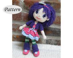 PATTERN - Plum Pudding - Strawberry Shortcake - Amigurumi - Crochet Doll - Photo Tutorial - PDF