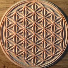 Flower of life stamp for a client.  Custom stamps available on request - www.itsclearcut.com
