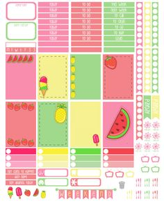 Say Plans Again: It's Fri-Yay! Free Printable - Summer Sweets Weekly Layout