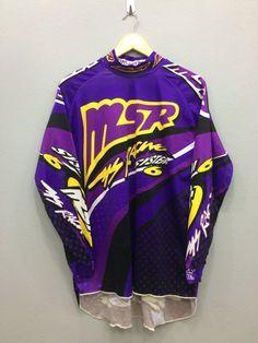 Early 90s MSR Rage Malcolm Smith Racing Motorcross BMX Jersey Long Sleeves Medium Size