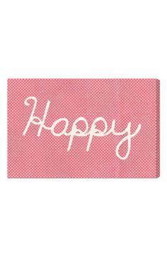Oliver Gal 'Happy' Wall Art available at #Nordstrom