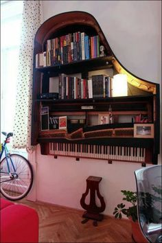 I don't think I would ever do this, but it sure looks awesome. For music lovers, here's a winner!
