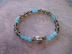 Beautiful brazilian aquamarine bracelet by Shynnasplace on Etsy, $18.99