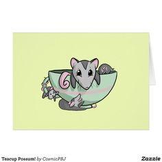 Teacup Possum! Card