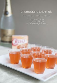 How to make champagne jello shots!!!