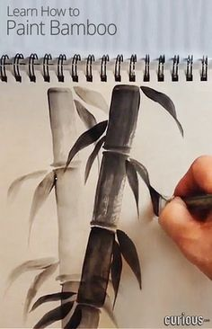 Love the serene look of bamboo art? Learn to create Asian-influenced art with these techniques from April Numamoto. You only need one color and one paint brush!