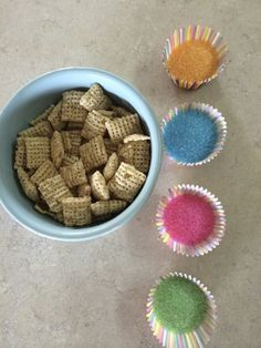 Kid-Made Chocolate Chex Mix