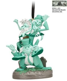 Disney Haunted Mansion Hitchhiking Ghosts Holiday Christmas Ornament - Disney Theme Parks Exclusive & Limited Availability + BONUS Jack Skellington Non-Monetary Bill Included