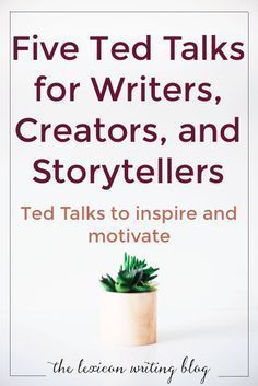 Watch these five Ted Talks to inspire you, motivate you, and get you writing. writing writing advice writing tips Writing Quotes, Fiction Writing, Writing Advice, Writing Resources, Writing Help, Writing Skills, Writing A Book, Creative Writing Inspiration, Creative Writing Tips