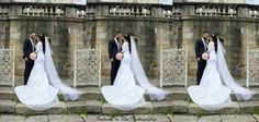 Triptyque photos de mariés