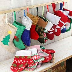 Group of 12 Assorted Style Miniature Felt Christmas Mittens and Stockings for Gifting Decorating and Designing >>> Want additional info? Click on the image. (This is an affiliate link)