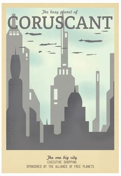 Star Wars Travel Posters by Teacup...