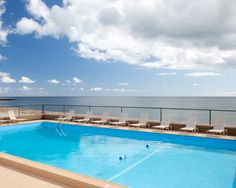 Ease your worries and cool off in the oceanfront pool at Bluegreen Vacations The Soundings, an Ascend Resort in Dennis Port, MA.